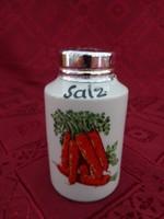 Német porcelán só/paprika szóró, magassága 7 cm.