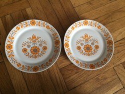 2 db alföldi virágos porcelán falitányér