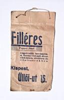 Popper Jenő filléres Uri-női-divat, papír zacskó