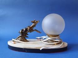 Retro éjjeli lámpa (szarvas)