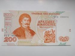 Görögország 200 drachma 1996 UNC