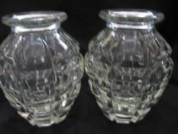 Kézigránát forma kristály ibolyás váza pár