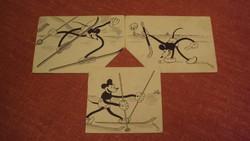 Régi-MICKEY MOUSE / Disney postcards / Bisztriczky József --- 1930-ban készült, grafikai sorozatából
