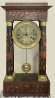19.sz-i,intarziás francia óra,tökéletesen működik,49 cm magas