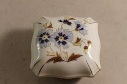 Zsolnay búzavirág mintás bonbonier 513