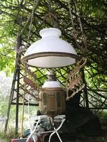 Lüszter, lámpa, csillár,! Paraszt lámpa, majolikás, Szecessziós! Villanyositás megoldva ha úgy kéri!