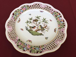 Herendi Rothschild áttört fali tányér 34cm