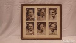 Képkeret fotókkal falc 24,5x28,5 cm