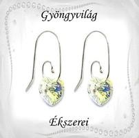 Swarovski kristály 925-ös ezüst fülbevaló EF-ESWSZ01