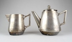 1B114 Antik ezüstözött alpakka Hotel Interpress kávéházi kiöntő pár