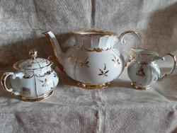 100 éves antik 3db teás szett 1920-30