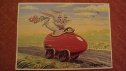 Régi-Festészeti képeslap másolat (Húsvét ünnepi) Hentschel Antal szignós jelzésével.