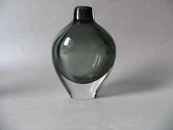 Szignózott, skandináv váza - Orrefors