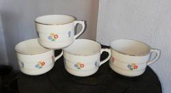 4 db virágos Drasche Gyönyörű csészék, csésze, nosztalgia darabok.
