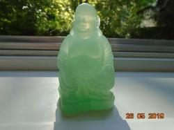 Jade színű celluloid üveg Buddha vintage 30'-60' évek