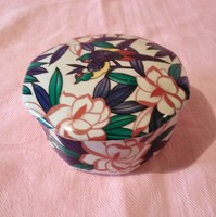 ÁK01 kézzel fesetett  bonbonier ékszertartó szép rózsás mintával