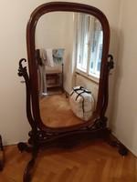 Antik bécsi barokk álló tükör 19.sz -ból