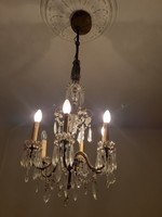 Anrik barokk kristály csillár 19.sz -ból