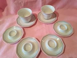 ÁK01 Winterling porcelán Kávés csésze és 4 db tojás tartó