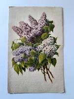Régi virágos képeslap orgonás levelezőlap