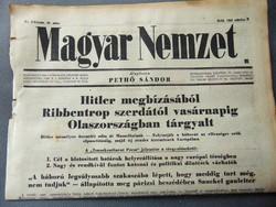 Hitler megbízásából Ribbentrop szerdától Olaszországban tárgyalt   - Magyar Nemzet 1943