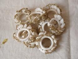 Horgolt ünnepi csipke szalvétagyűrű ( 8 db.)