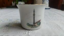 Porcelán emlék pohár készlet.