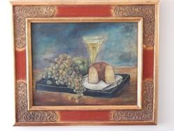 Festmény gyümölcs csendélet,,a század elejéből.