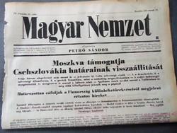 Moszkva támogatja Csehszlovákia határainak visszaállítását - Magyar Nemzet 1943