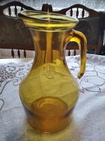 Borostyan színű üveg ritka