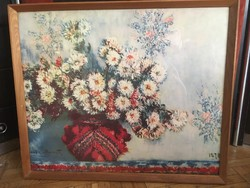 Monet Chrysanthemums, 1878 reprodukció 73x61cm