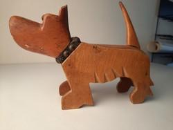 Retro kutya forma fadoboz, asztaldísz