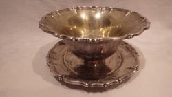Ezüstözött leveses tányér