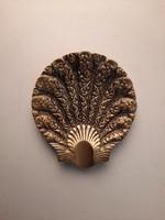 Art Deco kagyló formájú réz hamutál