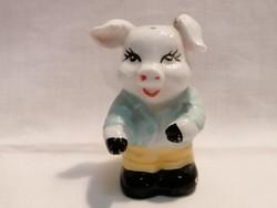 Malac porcelán figura só-fűszerszóró