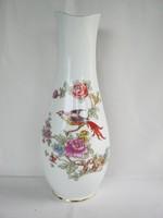 Hollóházi porcelán nagy méretű paradicsommadaras váza