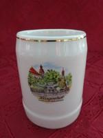 LILIEN porcelán Ausztria sörös korsó, Klagenfurt felirattal. Magassága 9,5 cm.