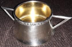 Art deco ezüst cukortartó 198 g.