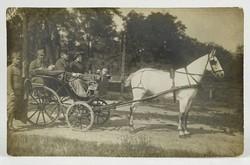 1B171 Antik Könnyü József lovas fotográfia képeslap