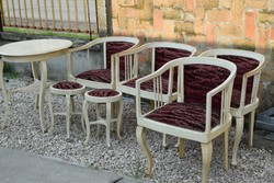 Szecessziós garnitúra, szék, asztal