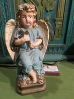20 cm magas , gipsz angyalka , korához képest igazán jó állapotban , minimális kopással .