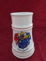Alföldi porcelán sörös korsó, Hódmezővásárhely címerével, magassága 16,5 cm.