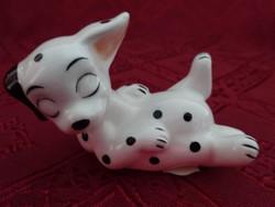 Dizney keleti porcelán figura, dalmata  101 kiskutya sorozat  hossza 7 cm.