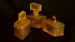 Régi parfümös szett üvegből