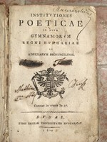 Institutiones poeticae  in vsvm Gymnasiorum Regni Hungariae .... Budae 1807