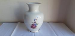 Hollóházi porcelán hajnalka mintás váza