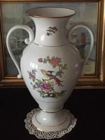 Hollóházi porcelán váza 41 cm magas kicsi bibivel.