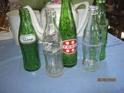 5 db retro üdítős üveg palack Róna Gyöngy Coca-cola