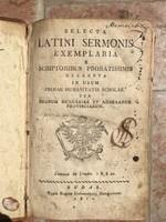 Selecta Latini Sermonis Exemplaria.... Budae 1810