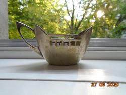 Antik ritka karakteres Jugendstil alpaka csésze tartó I.G. jelzéssel